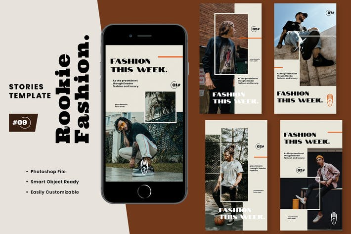 Thumbnail for Rookie Fashion Instagram Stories Template