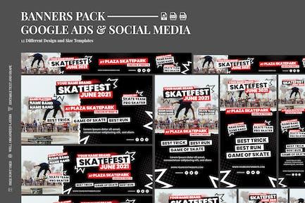 Skate Fest Event - Google Ad Social Media