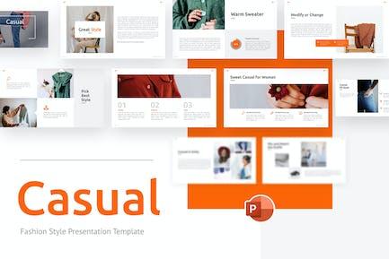 Повседневная мода Минималистский шаблон PowerPoint
