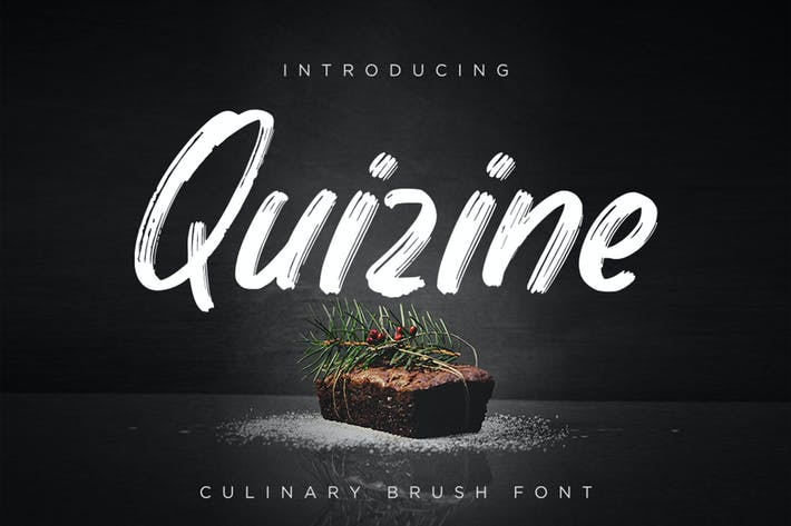 Thumbnail for Quizine - Culinary Brush Font