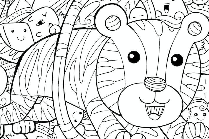 Thumbnail for Tiger Circus Doodle