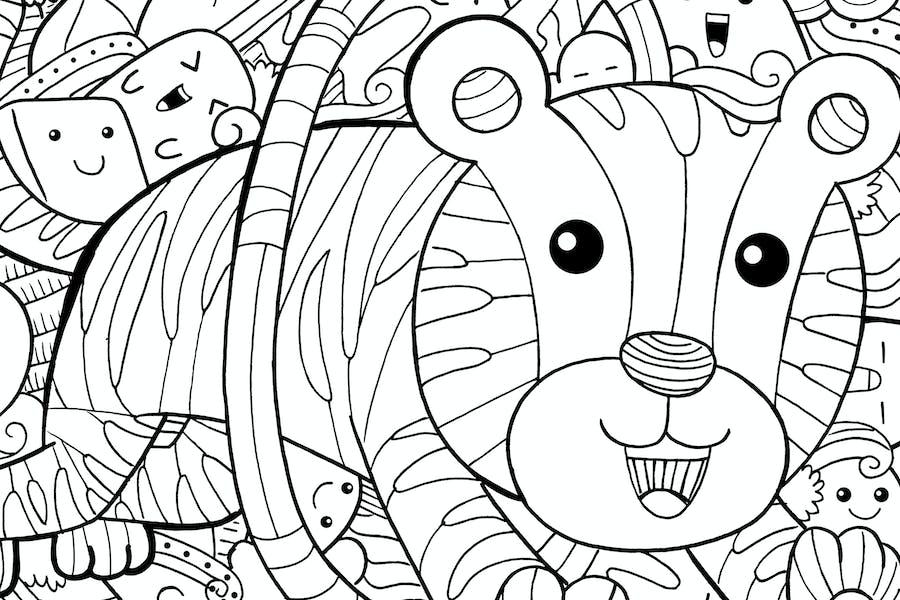 Tiger Circus Doodle
