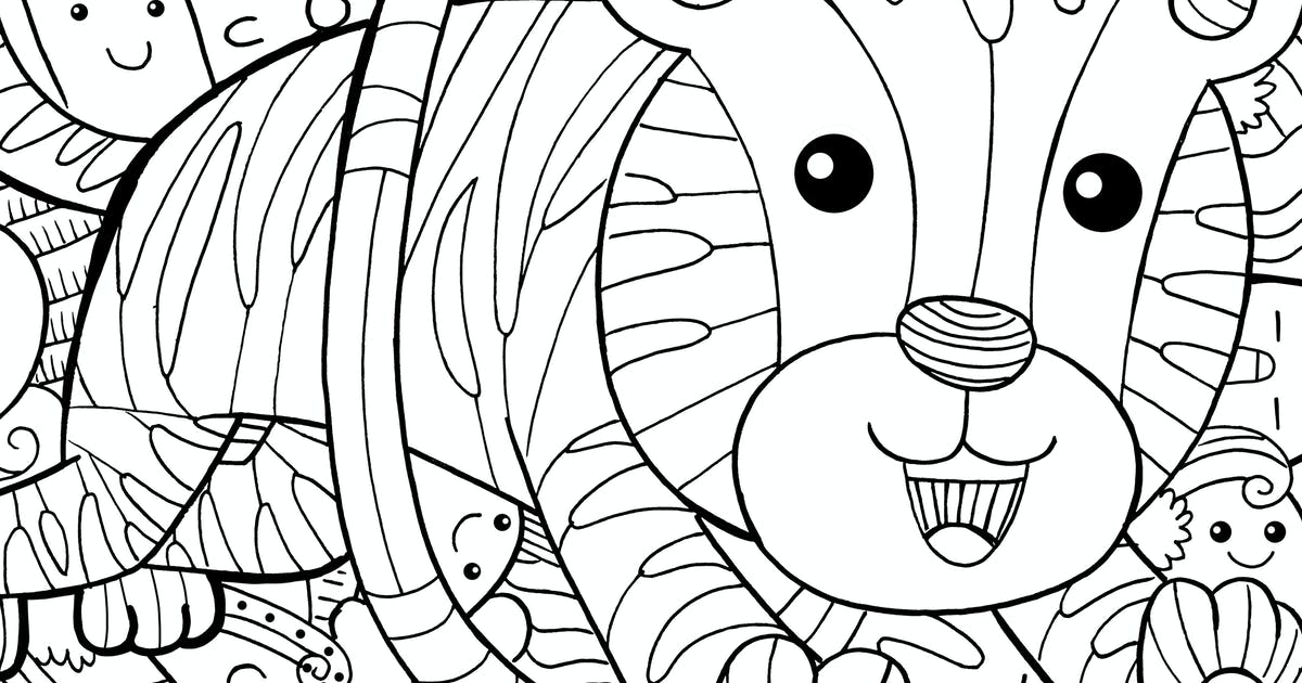 Download Tiger Circus Doodle by medzcreative