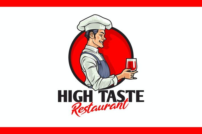 Thumbnail for Cartoon Chef Figur Maskottchen Logo