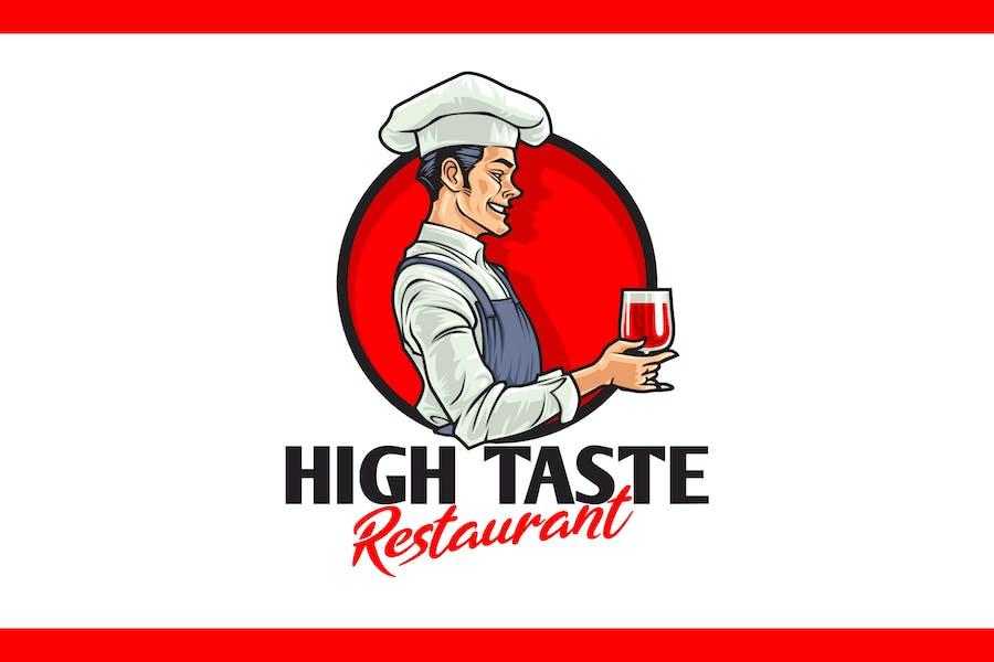 Cartoon Chef Character Mascot Logo
