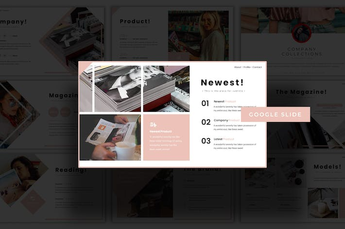 Thumbnail for Magazine  - Google Slides Template