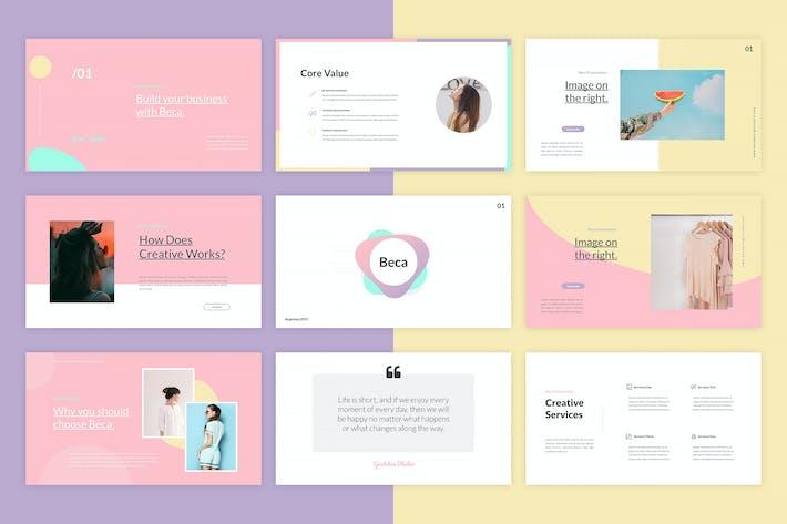 Cover Image For Beca - Google Slides Template