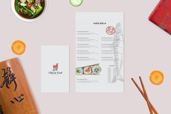Thumbnail for Asian Food Mock Up