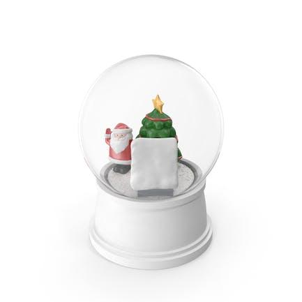 Decoración navideña de bola de nieve