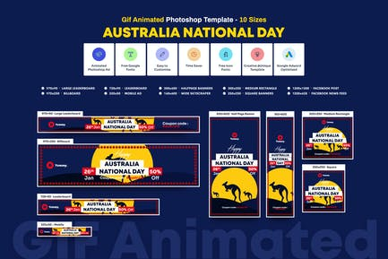 GIF Banners - Australia Day Banners Ad