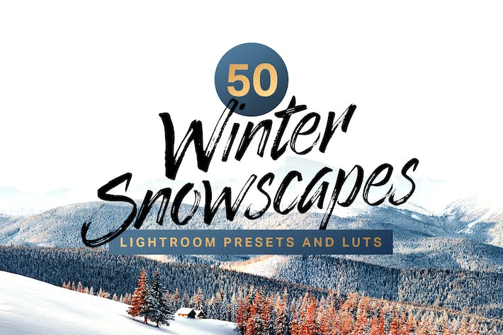 Thumbnail for 50 Winter Snowscape Lightroom Presets and LUTs