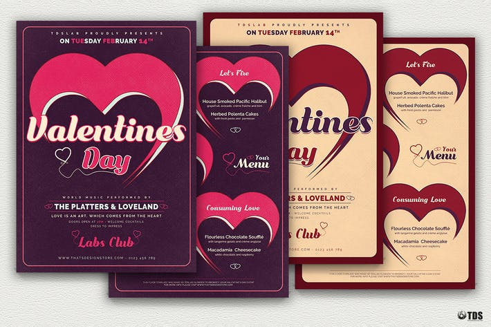Thumbnail for Valentines Day Flyer + Menu V9