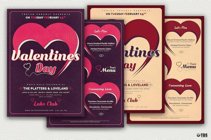 Cover Image For Valentines Day Flyer Menu V9