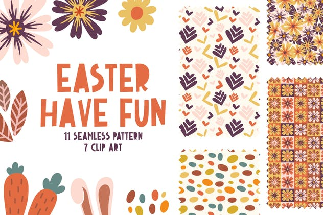 Easter Have Fun Seamless Pattern