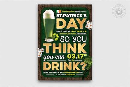Saint Patricks Day dépliant Modèle V7