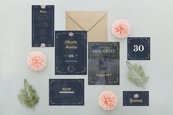Thumbnail for Königliche Blume - Hochzeitseinladungen