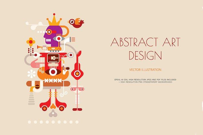 Thumbnail for Abstrakte Kunst Vektor illustration