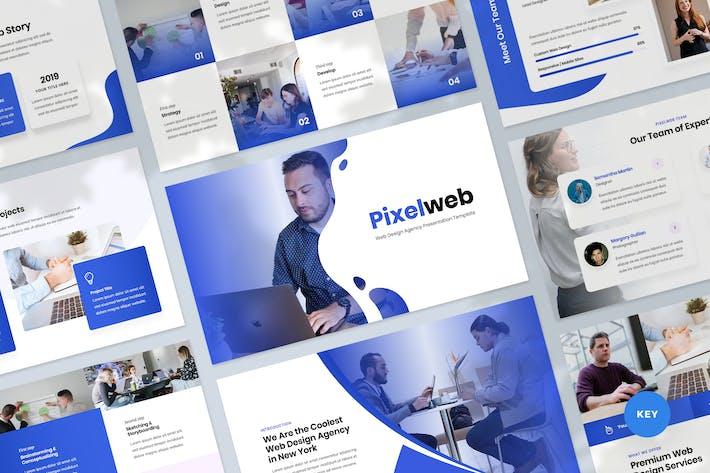 Thumbnail for Web Design Agency Keynote Template Presentation
