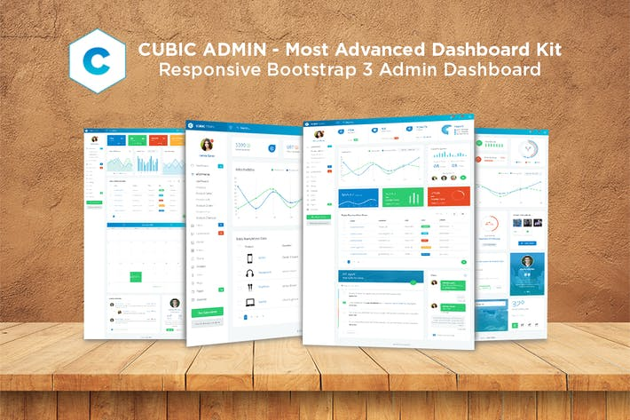 Thumbnail for Admin Dashboard + UI Kit Framework Theme - Cubic