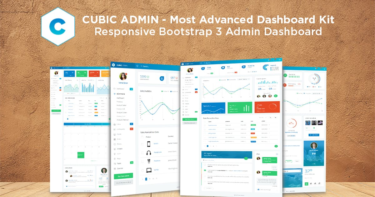 Download Admin Dashboard + UI Kit Framework Theme - Cubic by Jthemes