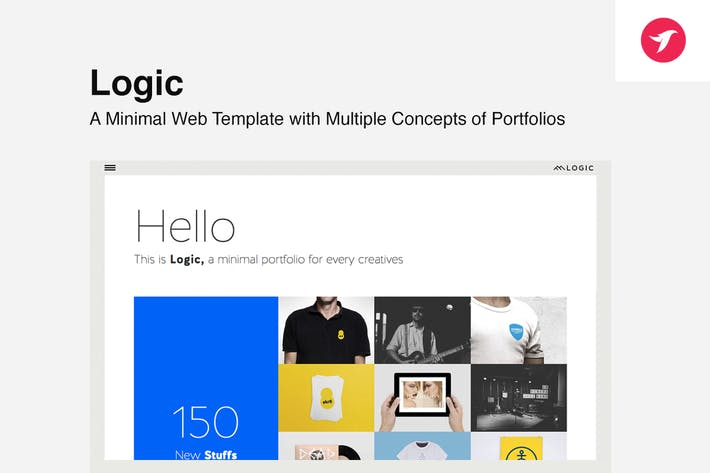 Thumbnail for Logic - Minimal Multi-Concept Portfolio Template