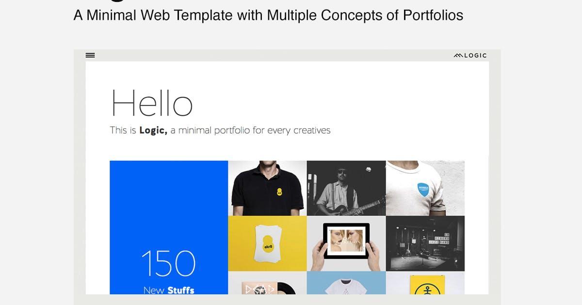 Logic - Minimal Multi-Concept Portfolio Template by designova