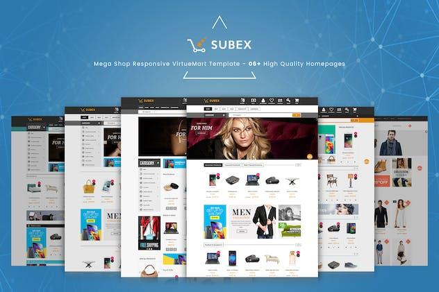 Subex - Mega Shop Responsive VirtueMart Template