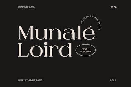 Munale Loird Display Font