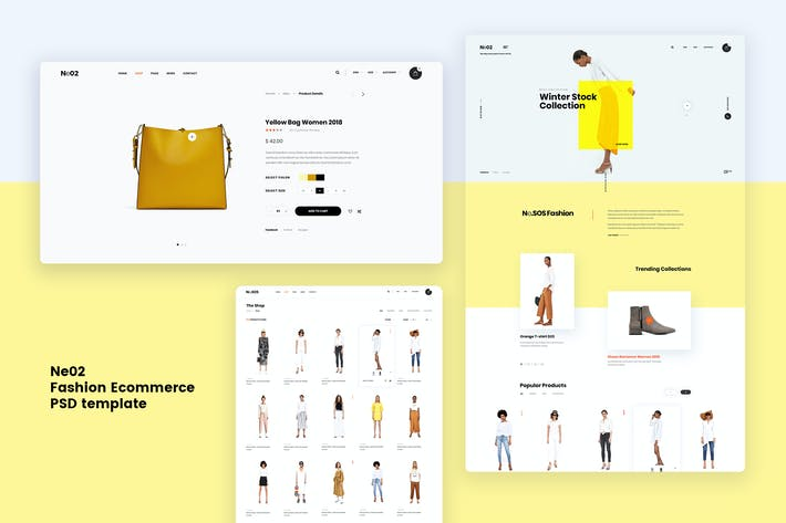 Thumbnail for Ne02 - Fashion Ecommerce PSD template