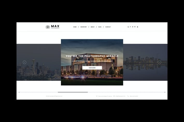 Thumbnail for Max Photography - Photographer HTML Template