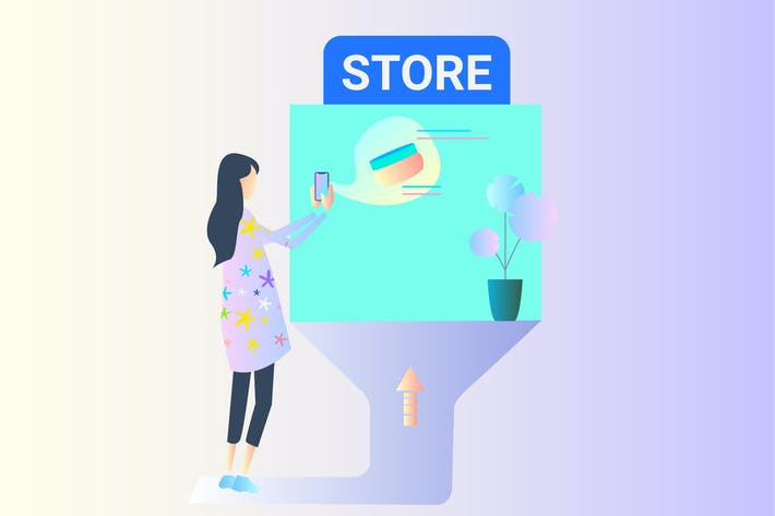 Thumbnail for AR Store Checking 2D Illustration