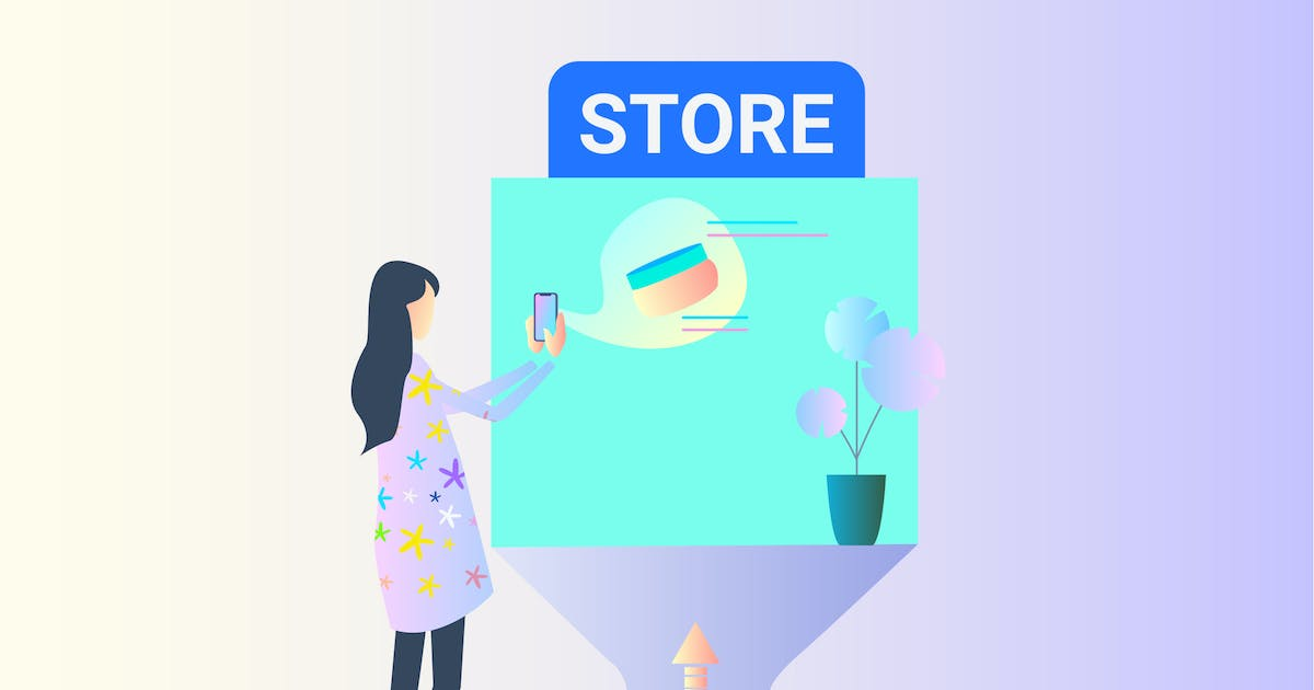 Download AR Store Checking 2D Illustration by angelbi88