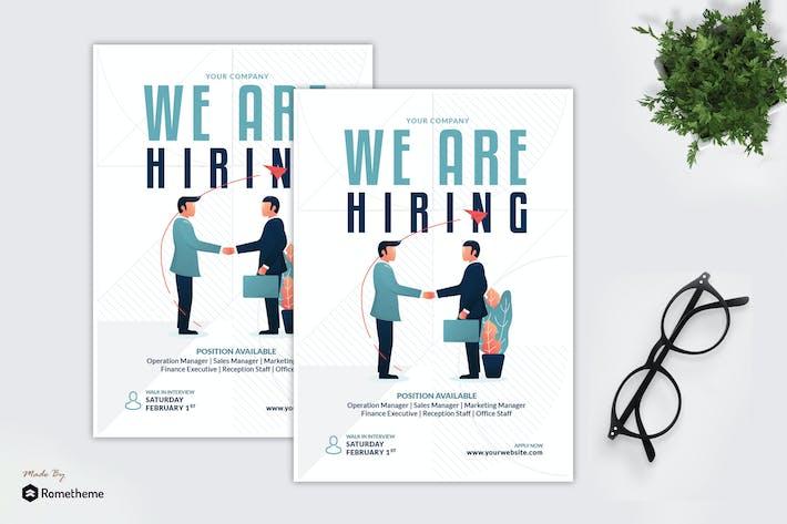 Thumbnail for Blue Company Job Vacancy - Creative Flyer GR
