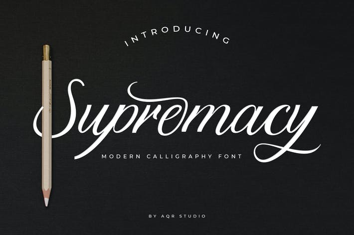 Thumbnail for Supremacy Script Font