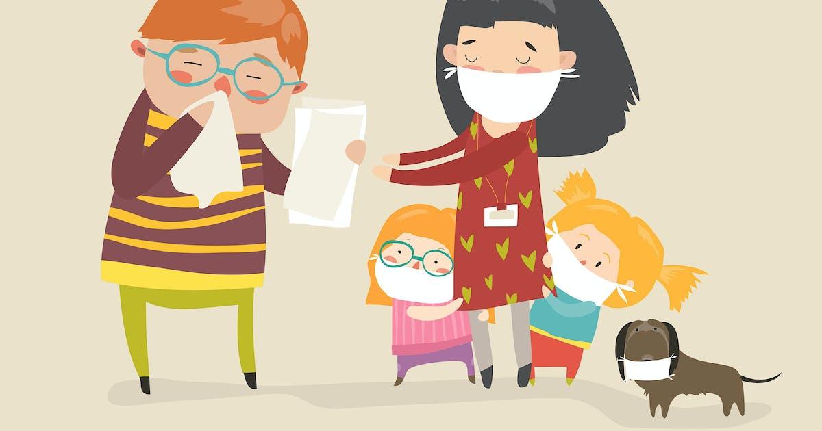 Download Social worker with kids. Caretaker sick. Vector by masastarus