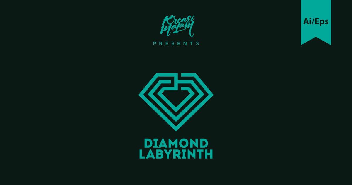 Diamond Labyrinth Logo Template by Ijajil