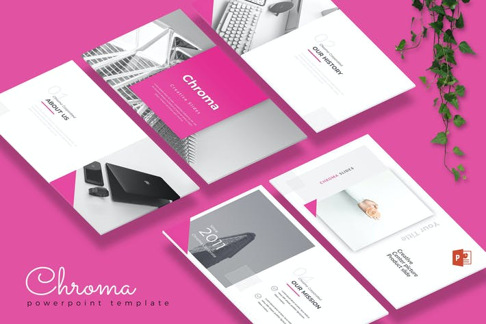 Cover Image For CHROMA - Creative Powerpoint Template