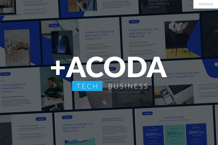 Thumbnail for ACODA - Tech Business Google Template