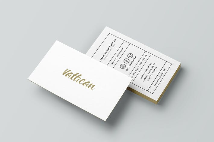 Cover Image For Vattican - Business Card Template