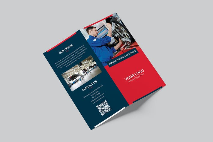 Thumbnail for Brochure – Auto Repair Bi-Fold DL