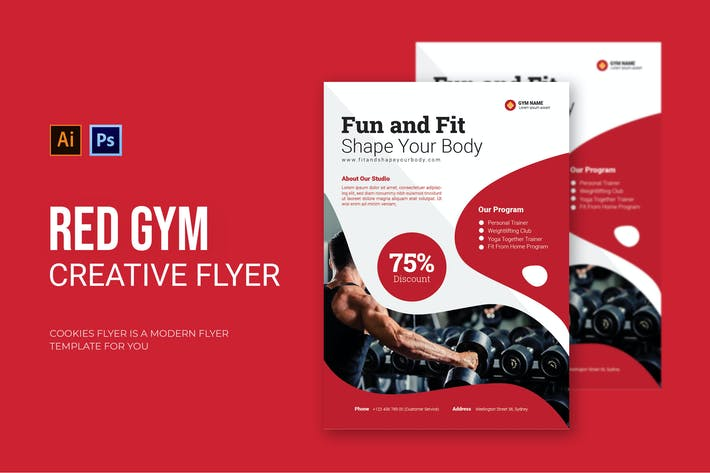 Thumbnail for Red Gym - Flyer