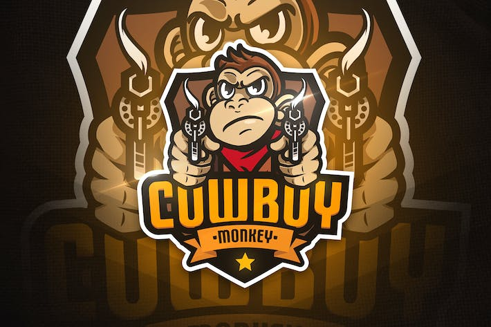 Thumbnail for Cowboy Monkey - Mascot & Esport Logo