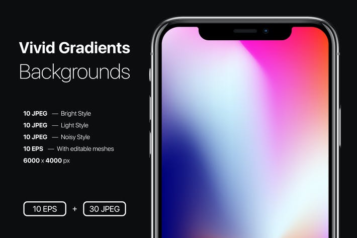 Cover Image For Vivid Gradients Backgrounds