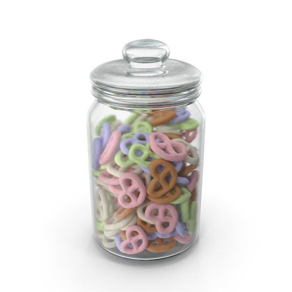 Jar with Yogurt Covered Pretzels