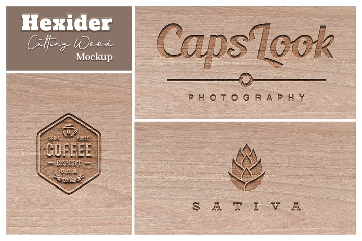 Thumbnail for Hexider Cutting Wood Mockup