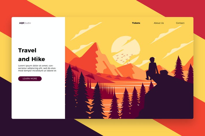 Thumbnail for Travel and Hike - Banner & Landing Page
