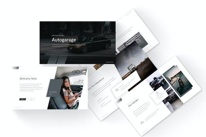Thumbnail for Autogarage - Google Slides Template