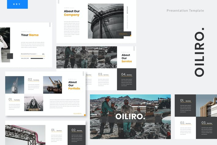 Thumbnail for Oiliro - Oil Industry Keynote Template