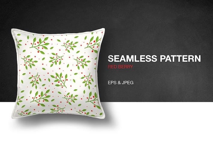 Cover Image For Red Berry Seamless Pattern