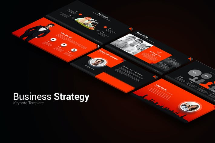 Thumbnail for Business Strategy Keynote Templates